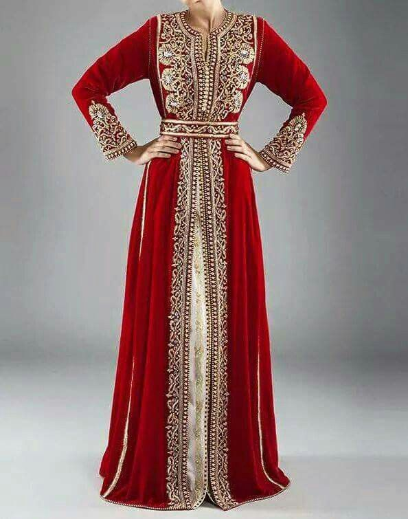 Marokkanische Kaftan Qaftan Marokkanisches Kleid Internationale Trachten