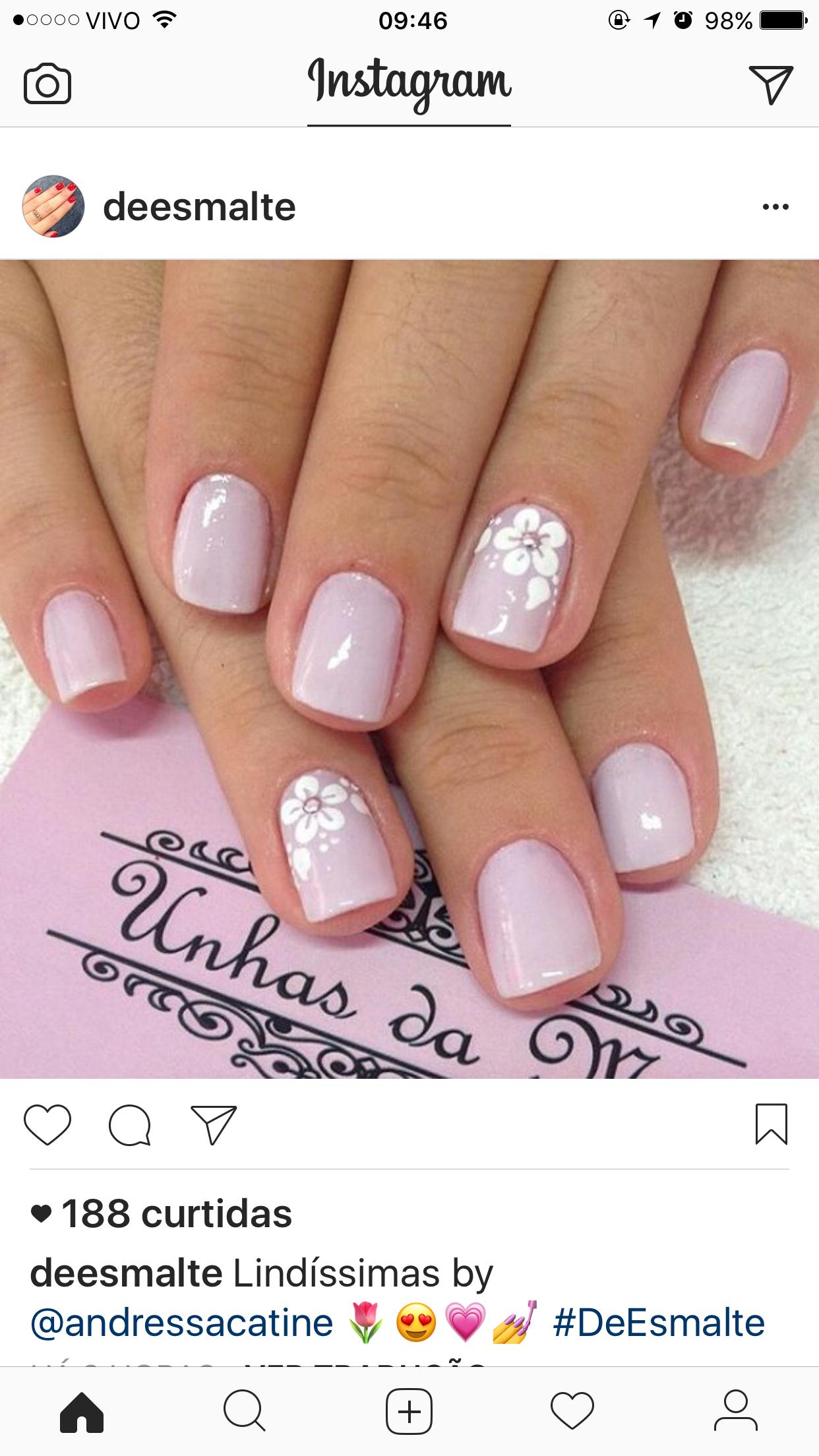 Decorado sencillo pero con clase | Manicura de uñas, Uñas ...