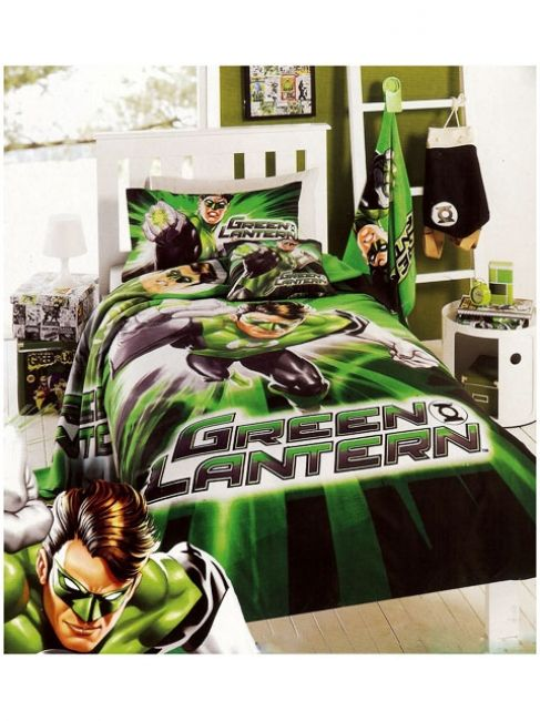 Great Green Lantern Quilt Cover Set Http://www.kidsbeddingdreams.com/boys