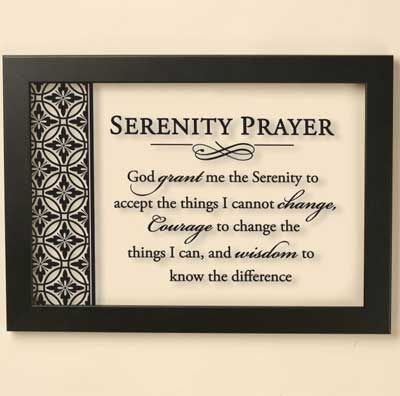 serenity prayer framed wall hanging christiangiftsplacecom online store