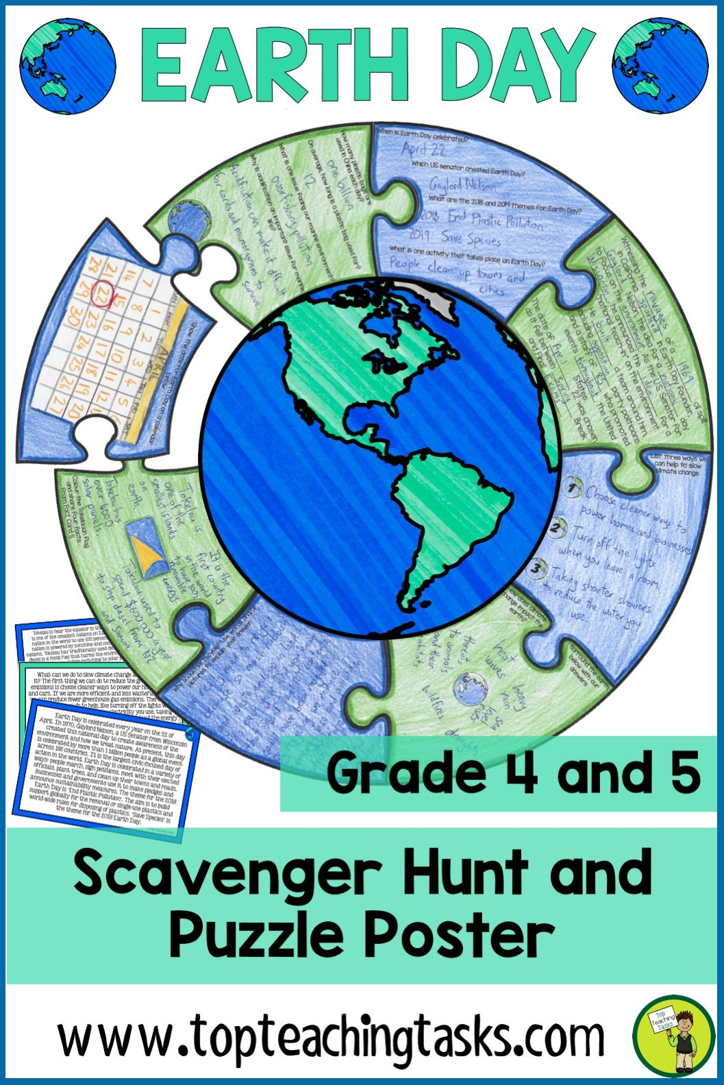 Earth Day Reading Comprehension Activity