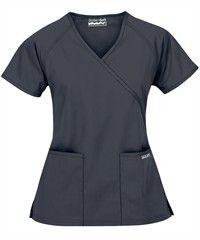 77cbb4028f6 Butter-Soft Scrubs by UA - Solid Mock Wrap Top, Style# WTS668C #scrubs,  #fashion, #pewter, #nurses