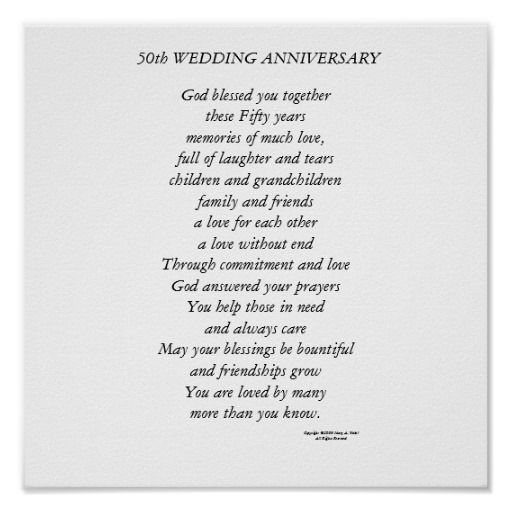 50th Wedding Anniversary Poster