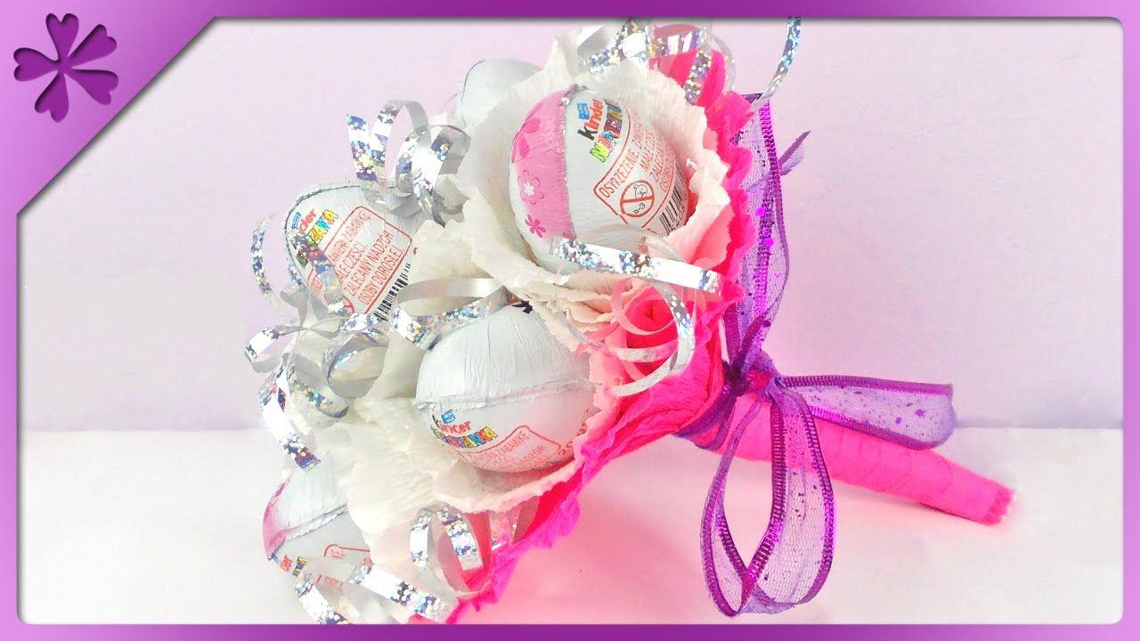 Bukiet Z Jajek Niespodzianek Kinder Surprise Bouquet With