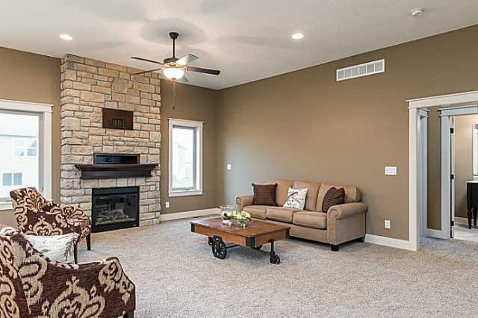 cobblestone fireplace quot all in the family room stone veneer fireplaces