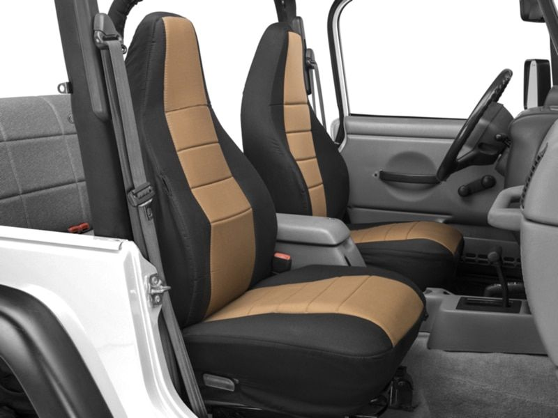 Alterum Jeep Logo Sideless Seat Cover Tan 87 20 Jeep Wrangler Yj Tj Jk Jl Jeep Wrangler Seat Covers Jeep Wrangler Jeep Wrangler Accessories