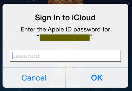 iCloud keeps asking for password (iOS and OS X); fix