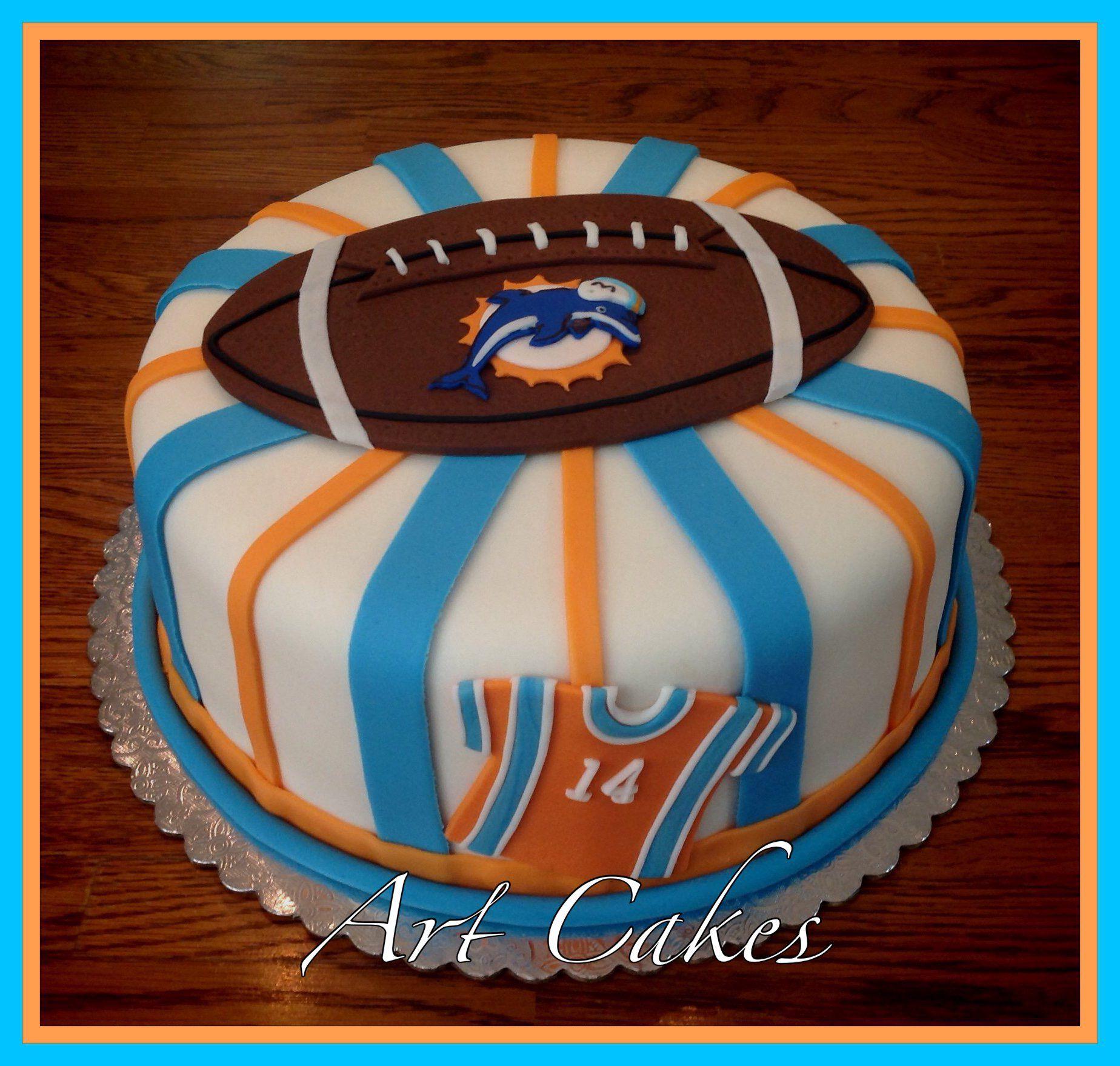 Miami dolphin cake football birthday cake dolphin cakes