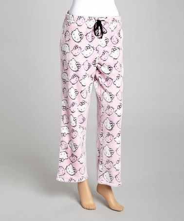 da23affc9 Take a look at this Pink Burnout Hello Kitty Pajama Pants - Women by Hello  Kitty on #zulily today!