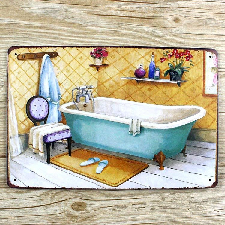 Compare Prices on Vintage Bathroom Signs- Online Shopping/Buy Low ...