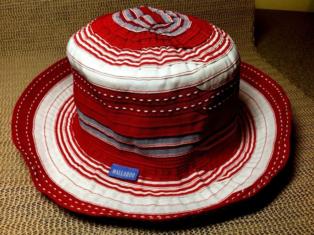 Details about Wallaroo Hat Company Boulder CO Hat Red   White w ... 60c58d881cbd