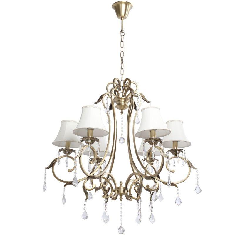 Klassischer 6-flammiger Kronleuchter im Chic-Stil Chiaro 355010506 - leuchten fürs wohnzimmer