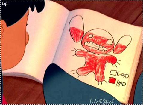 Stitch Dibujo Nivel De Maldad