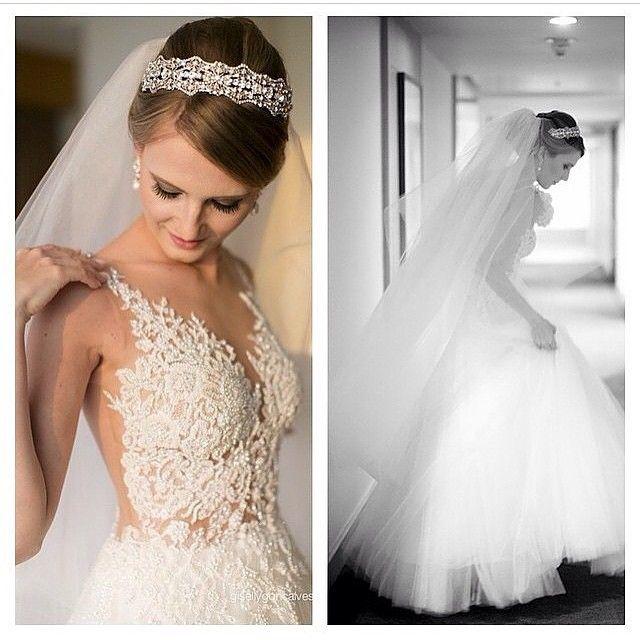 """""""Este vestido maravilhoso é criação da estilista top Solaine Piccoli via @fashion_and_weddinginspiration  This amazingly beautiful dress is from brazilian…"""""""