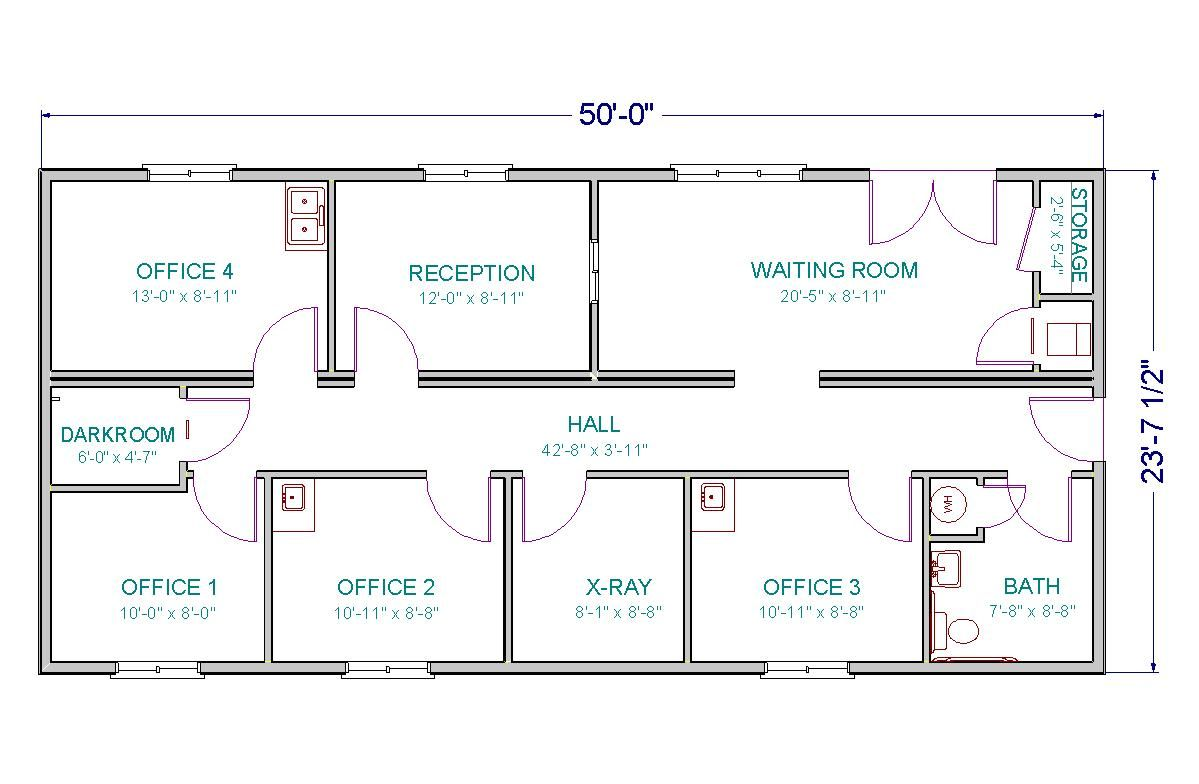 medical clinic floor plan