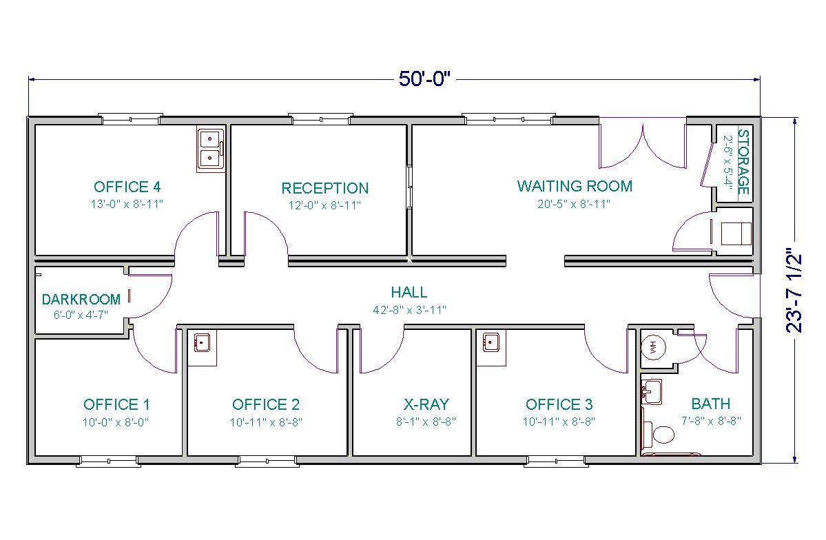 Medical Clinic Floor Plan   office add-on   Pinterest ...