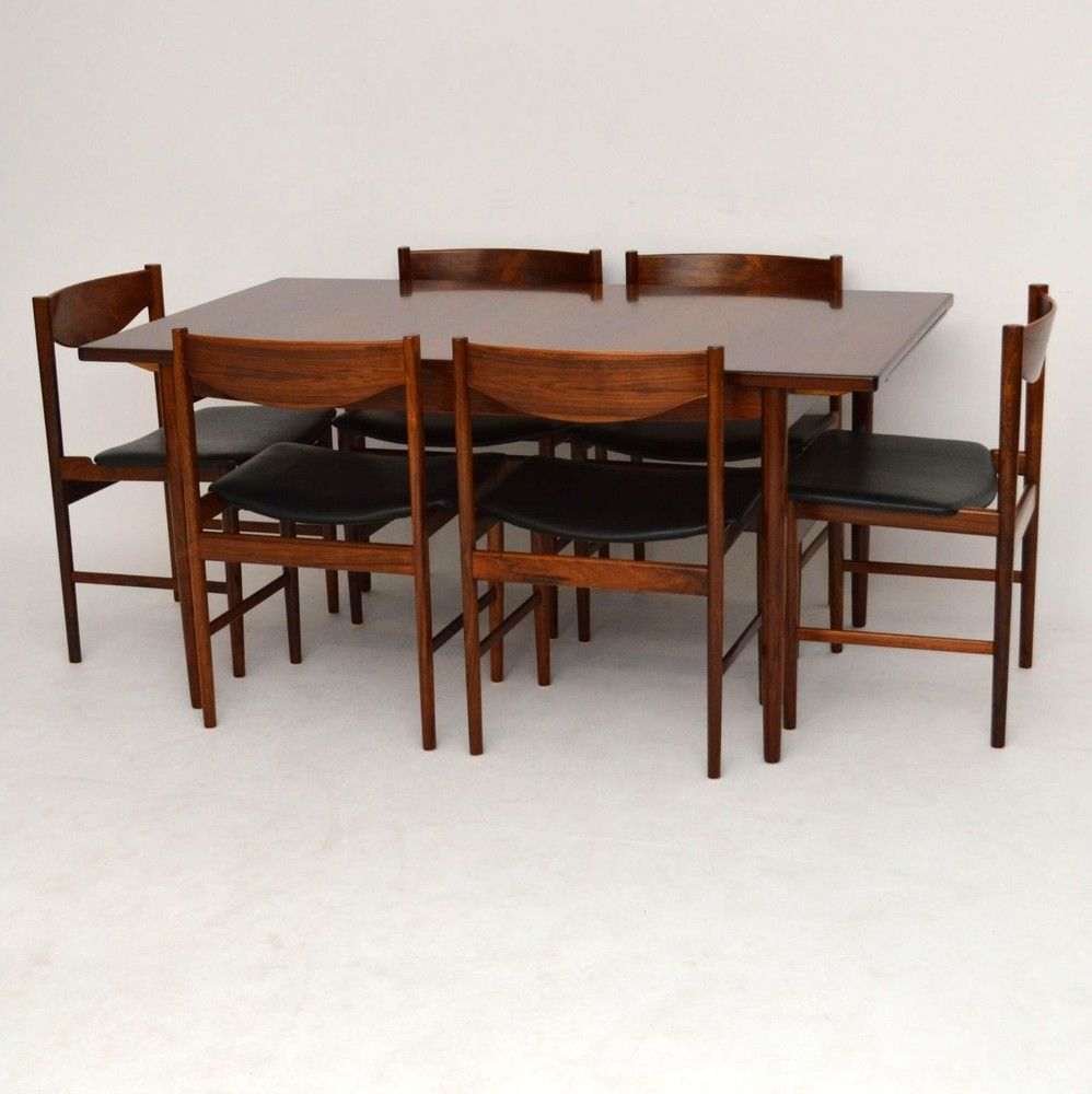 Retro Rosewood Dining Tabke Chairs For Sale London Ib Kofod Larsen Classy Sale Dining Room Chairs Review