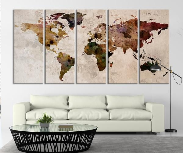 Map art large canvas print rustic world map large wall art extra map art large canvas print rustic world map large wall art extra large gumiabroncs Gallery