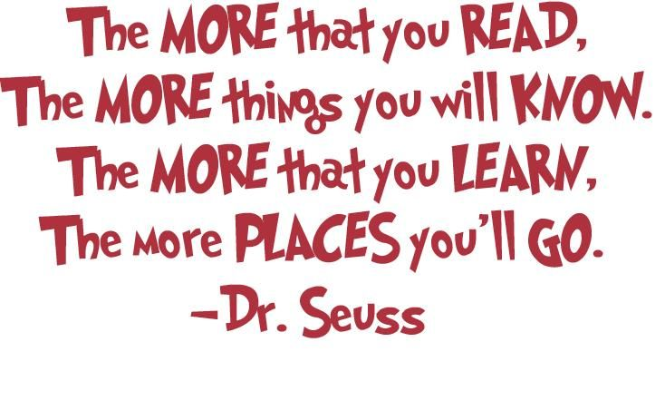 Dr Seuss Always Knows Best We Love Books Reading Pinterest