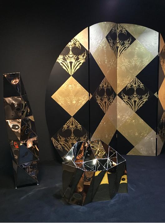 Paravent DANDELION  Emmanuel Bossuet Wallpaper / precious gold & black one color or bicolor  Papier peint / or et noir