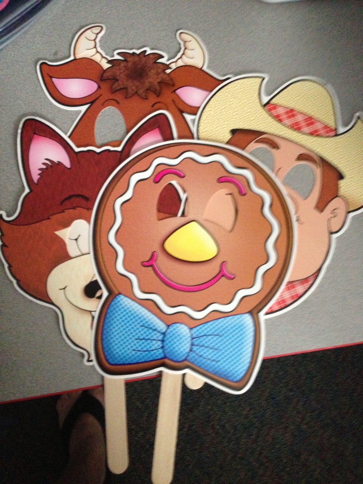 Gingerbread Boy Story Masks