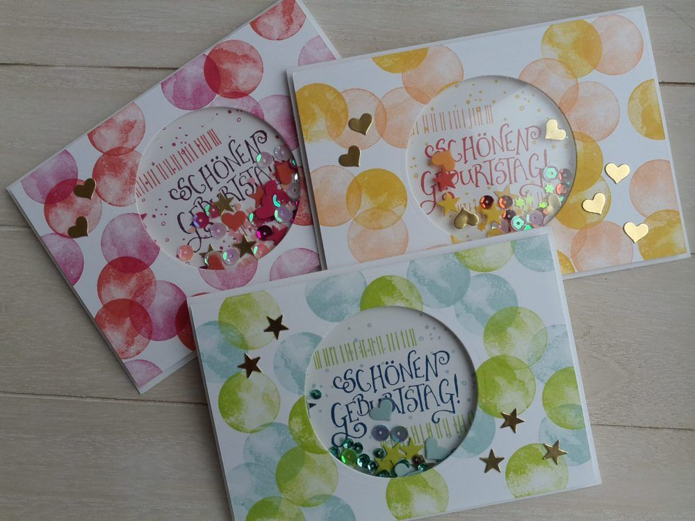 """Schüttelkarte """"Vielseitige Grüße"""" #stampmaking"""