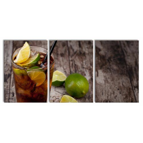 Cuba Libre Original 3-Piece Photograph Set on Canvas East Urban Home Size: 100 cm H x 210 cm W #cubalibre