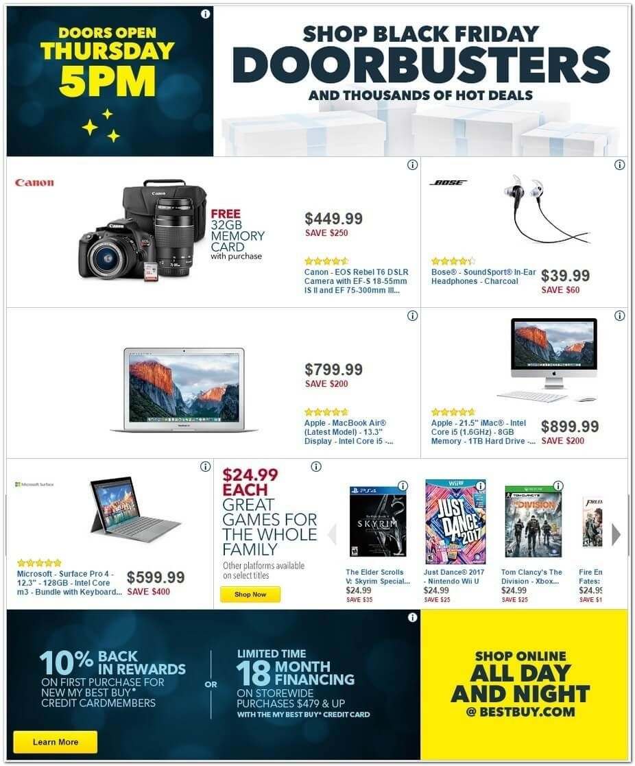 Best Buy Black Friday 2016 Ad Page 2 Cool Things To Buy Black Friday Best Buy Store Hours