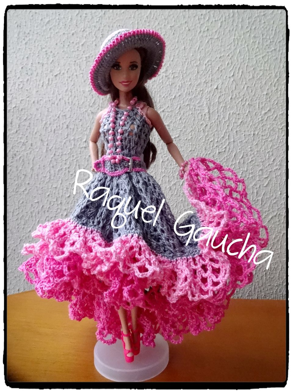 Cléa5 #Crochet #Muñeca #Barbie #Doll #Vestido #Dress #Chapéu ...