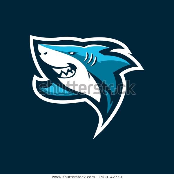 Shark Mascot Vector Illustration E Sports Stock Vector