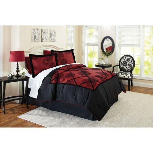 Better Homes Gardens Full Amaryllis Comforter Set 4 Piece Walmart Com Luxury Bedding Master Bedroom Home Comforter Sets