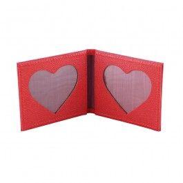Heart Folding Photo Frame - Red