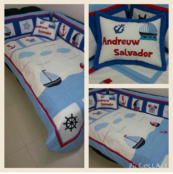 Juego de edred n para cama cuna personalizado marinero matt pinterest - Juego de cama para cuna ...