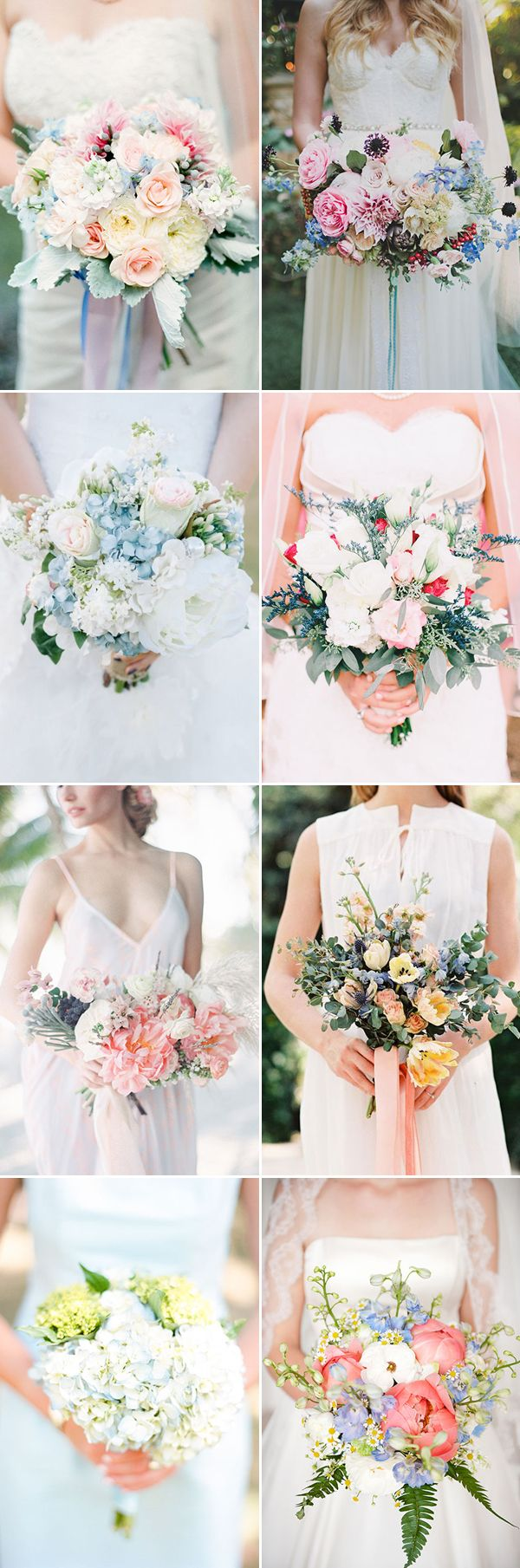 Sweet Arrangements Blue Spring Wedding Bouquet / http://www.himisspuff.com/spring-summer-wedding-bouquets/10/