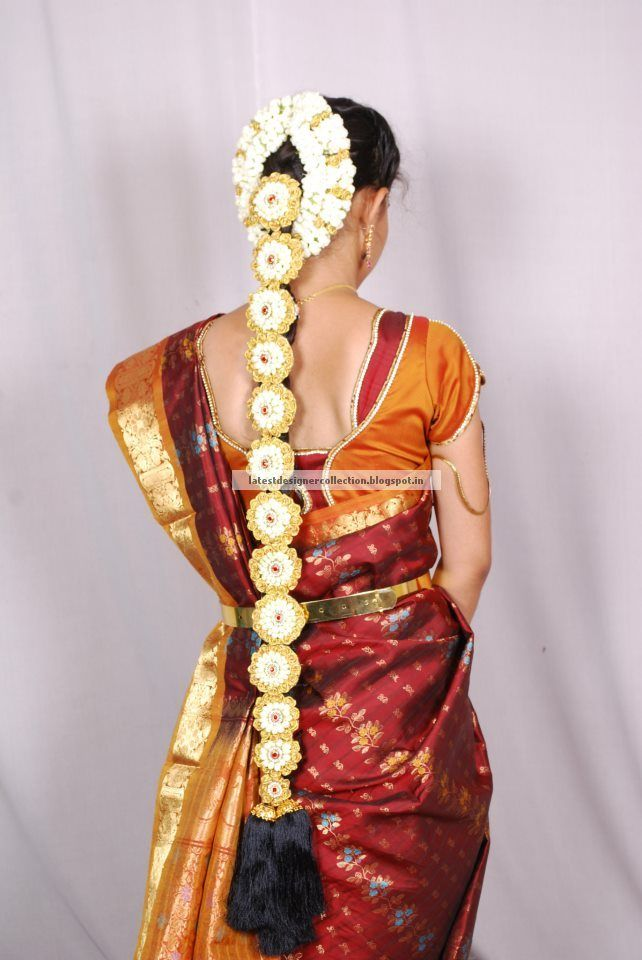 Excellent South Indian Bridal Hair Styles Pelli Poola Jada Pinterest Short Hairstyles Gunalazisus