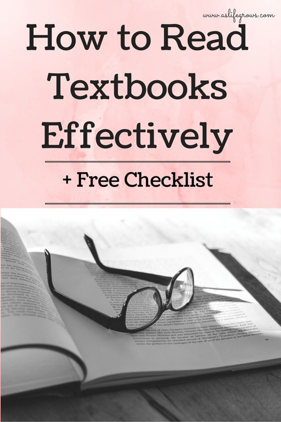 how to read textbooks effectively free checklist learning