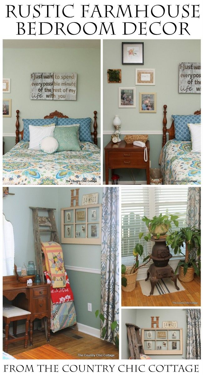 Rustic farmhouse bedroom reveal farmhouse bedroom decor for Rustic farmhouse bedroom