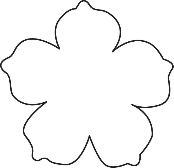 Image result for flower template with cut out lines for