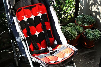 tutorial on how to make a stroller liner
