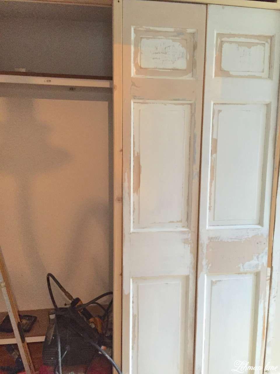 Diy closet door makeover bifold to hinged diy closet
