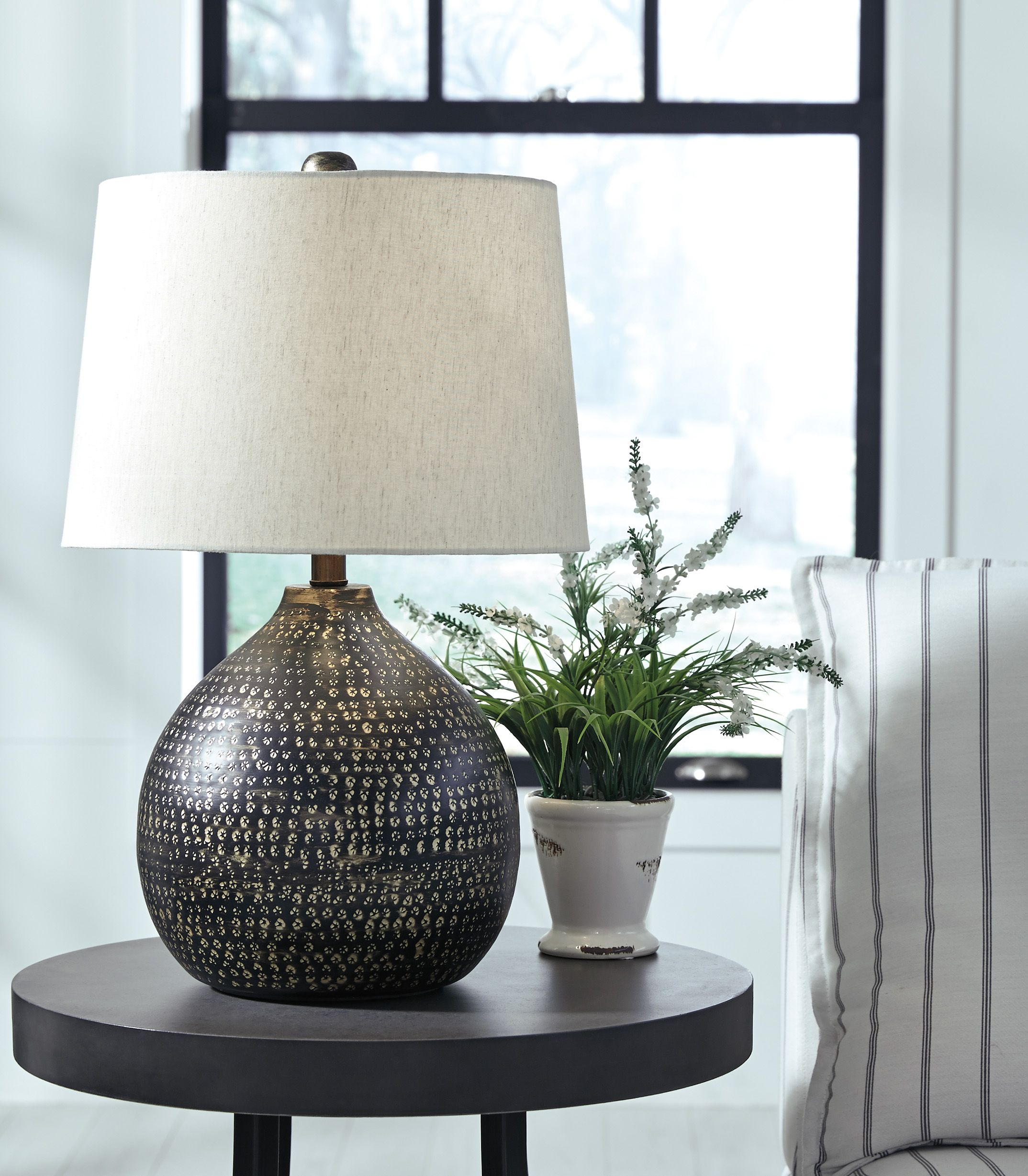 Lighting A Room Can Be The Last Thought But It Can Really Change Your Room See How To Light A Room Prop Metal Table Lamps Table Lamp Contemporary Table Lamps