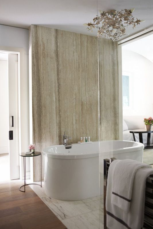hotel bel air | by alexandra champalimaud. simple feature wall
