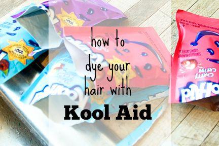 Kool Aid Hair Dye Tutorial #dyeingtutorials