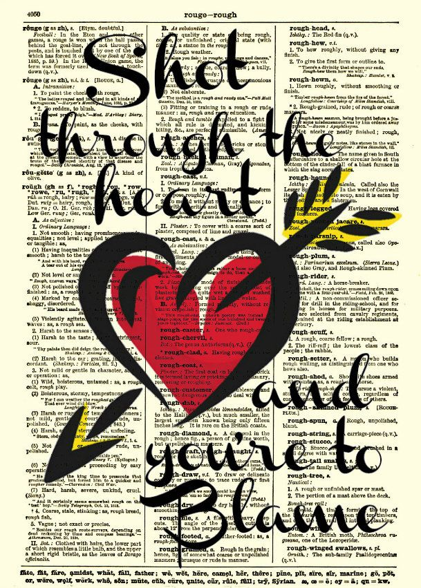 Valentine's Day Shot Through The Heart Quote Dictionary Page Awesome Quotes For Valentine Day