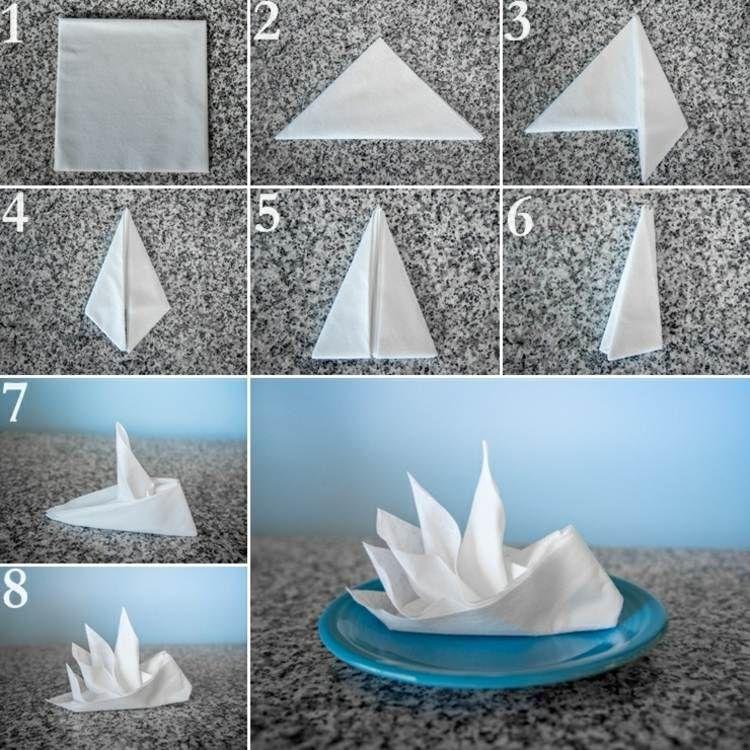 Mit Papierservietten wirkt der Paradiesvogel noch zarter und romantischer #foldingclothes