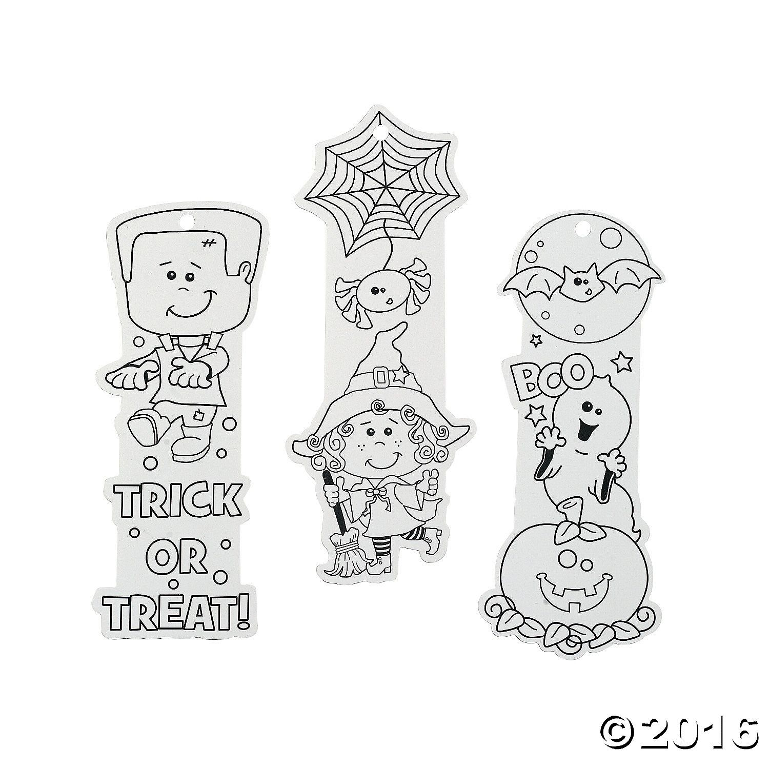 Color Your Own Halloween Friends Bookmarks Halloween