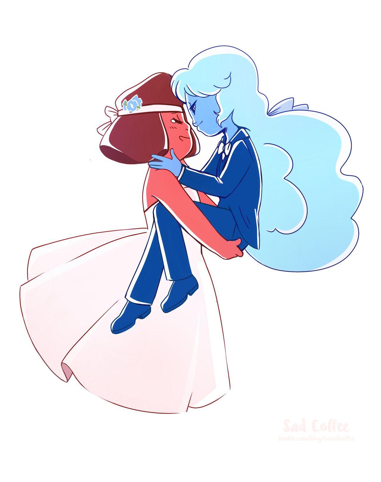 Ruby and Sapphire wedding Steven universe  Sapphire steven