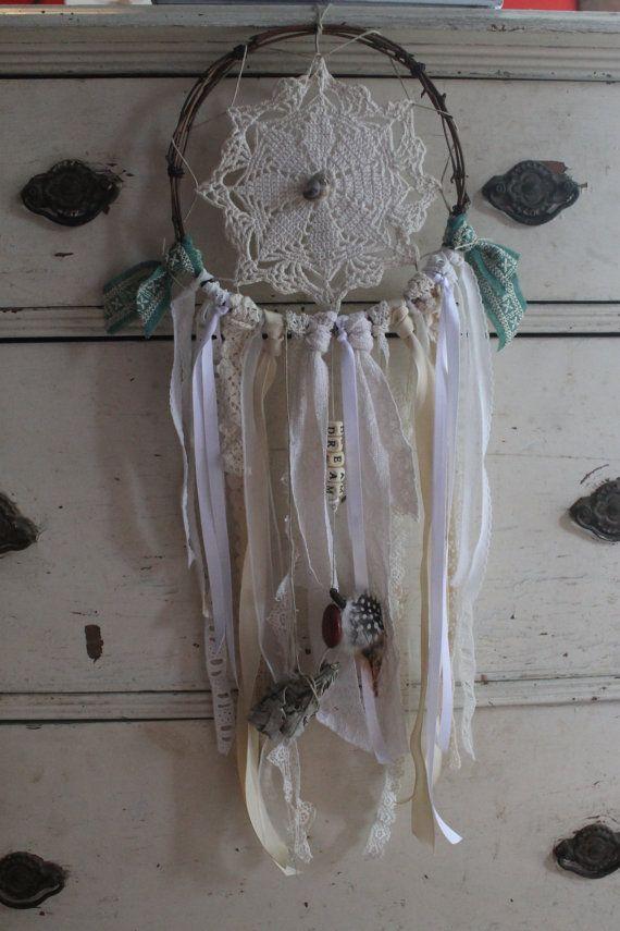 Handmade Upcycled Shabby Chic Dreamcatcher on Etsy, $30.00