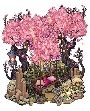 Cherry Blossom Seat By Cutiezor Pixel Art Pixel Art Design Isometric Art