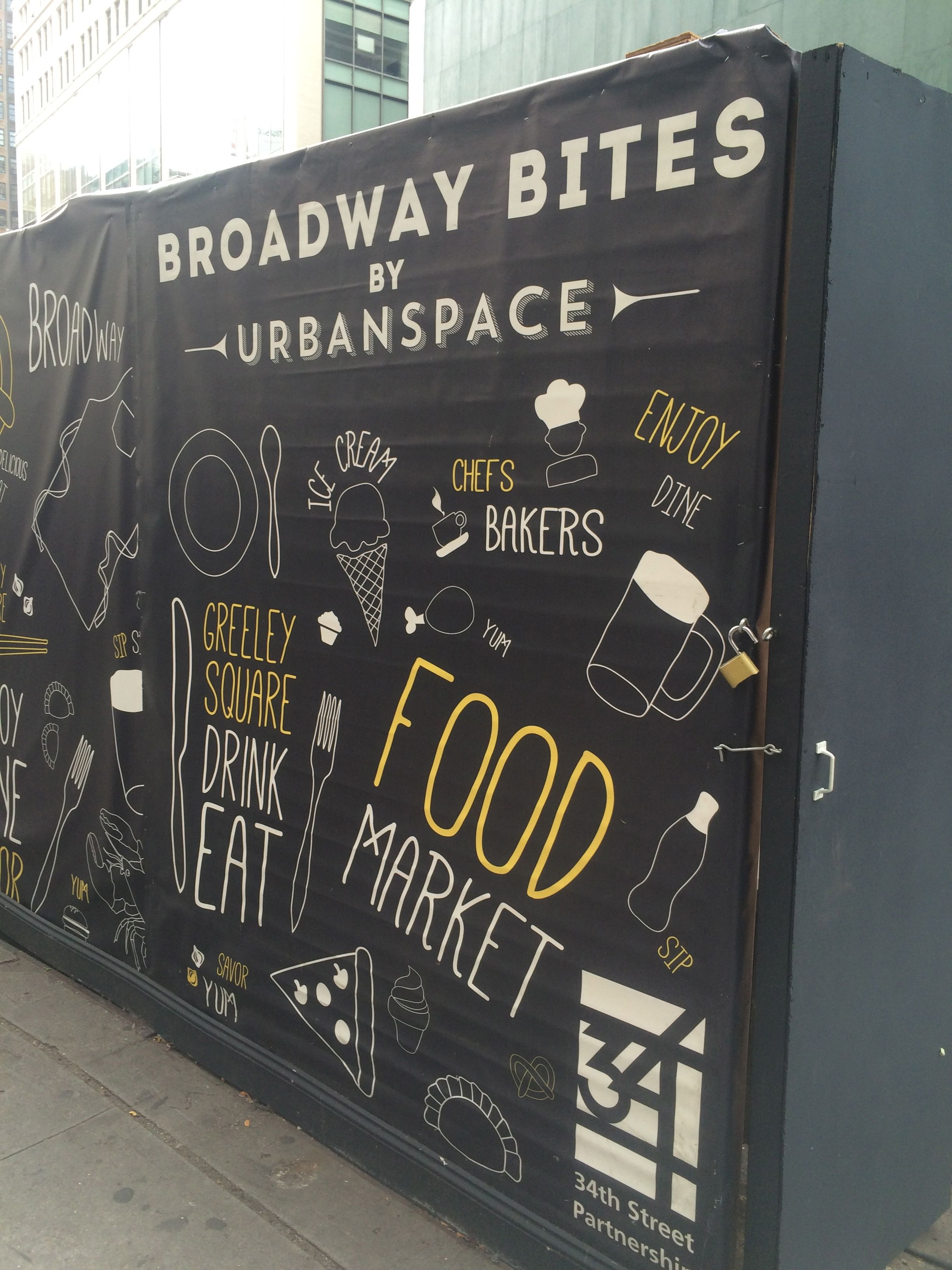 Look Broadway Bites By Urban Space when you are in